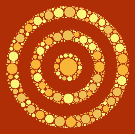 target practice: target practice shape design by color point Illustration