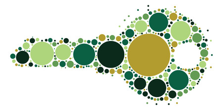 key shape design by color point