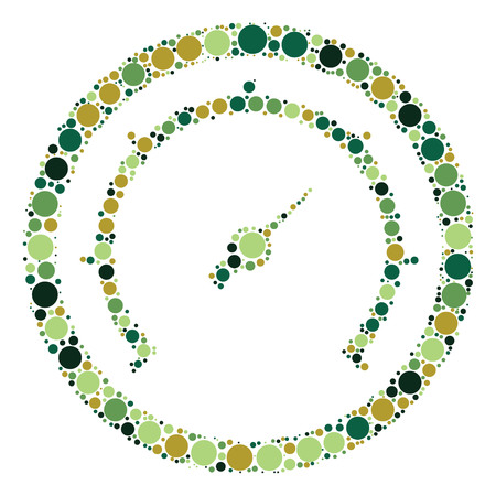 instrument panel: dashboard shape design by color point Illustration