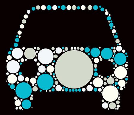 silhouette voiture: conception de forme de voiture par point de couleur