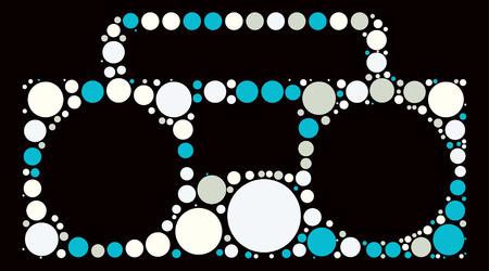 grabadora: dise�o grabador forma de punto de color