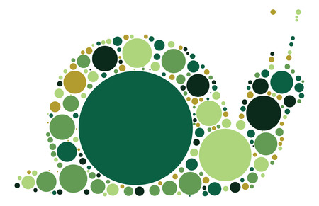 snails shape design by color point Illustration