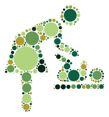 Nursing Room shape design by color point