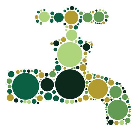 Faucet shape design by color point