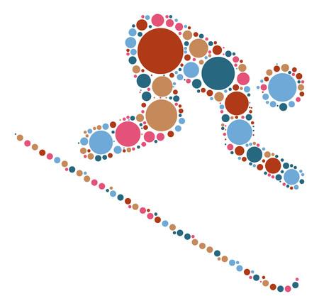 ski shape vector design by color point Illustration