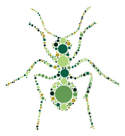 formica: ant shape design by color point