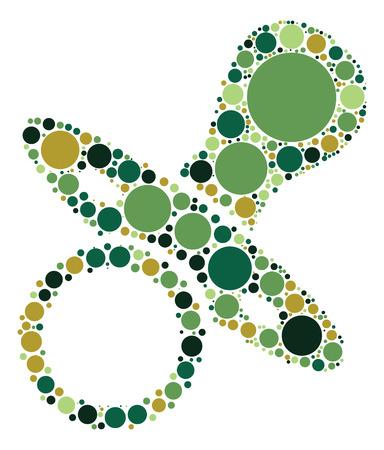 comforter: pacifier shape design by color point Illustration