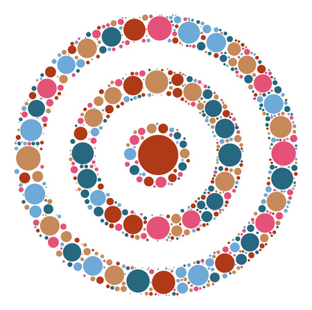 target practice shape design by color point Illustration