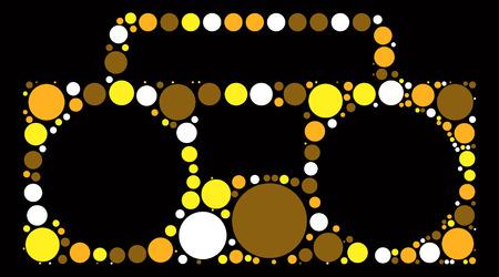 grabadora: recorder shape vector design by color point Vectores