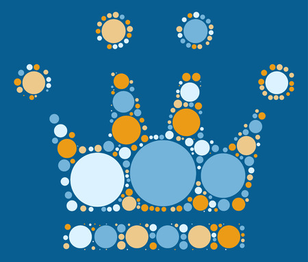 imperial: Imperial crown shape vector design by color point Illustration