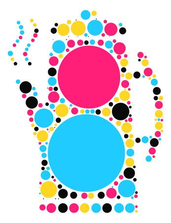 Press pot shape vector design by color point Illustration
