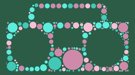 grabadora: grabadora de forma del diseño del vector de punto de color