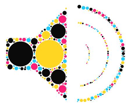 speaker shape vector design by color point Illustration