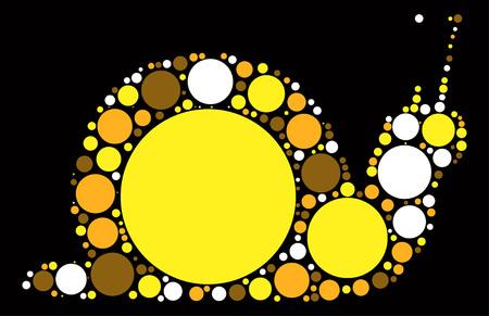 snails shape vector design by color point