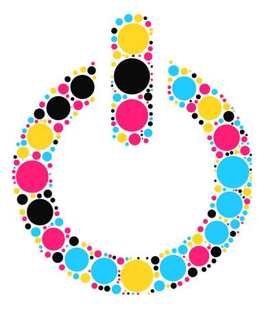 button shape vector design by color point Illustration