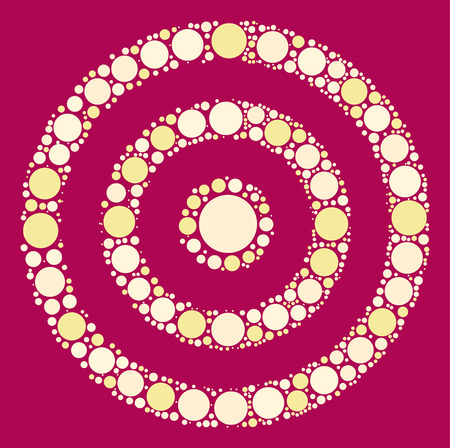 target practice shape vector design by color point Illustration