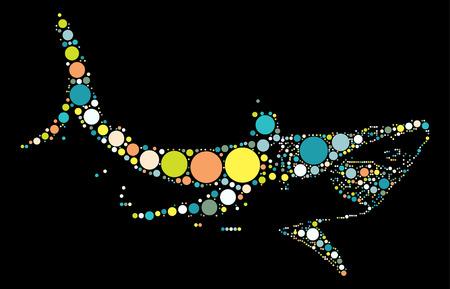 great danger: shark shape vector design by color point Illustration