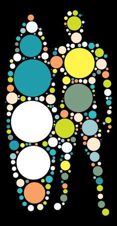 surf design vecteur de forme par point de couleur Illustration