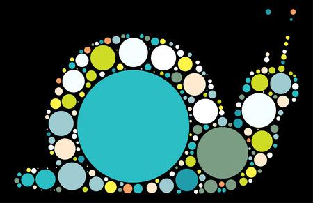 slug: snails shape vector design by color point