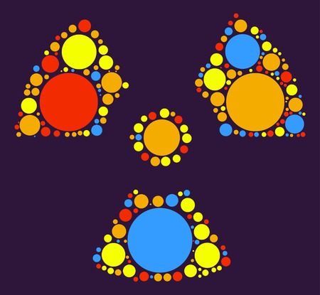 irradiation: radiation shape vector design by color point