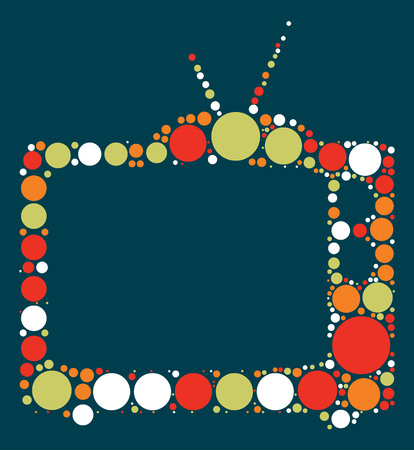 tv shape vector design by color point