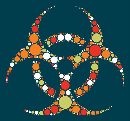 biochemical: Biochemical icon shape vector design by color point