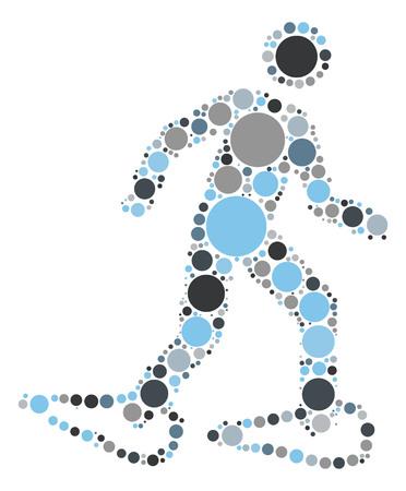 雪のハイキング ベクトル形状色ポイント  イラスト・ベクター素材