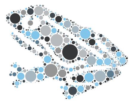 red eyed tree frog: frog shape vector design by color point Illustration