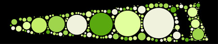 saw blade: saw shape design by color point Illustration