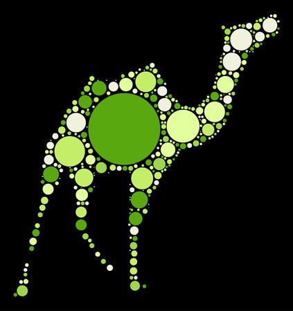 hump: camel shape design by color point