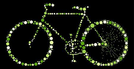 spoke: bicycle shape design by color point Illustration