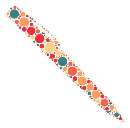 pen shape design by color point Illustration