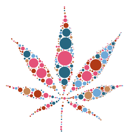 Hashish shape design by color point