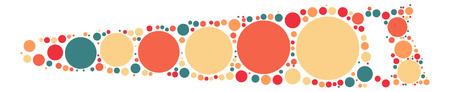 saw shape design by color point Illustration