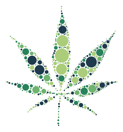 cannabis sativa: Hashish shape design by color point