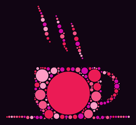 coffee cup shape design by color point Illustration