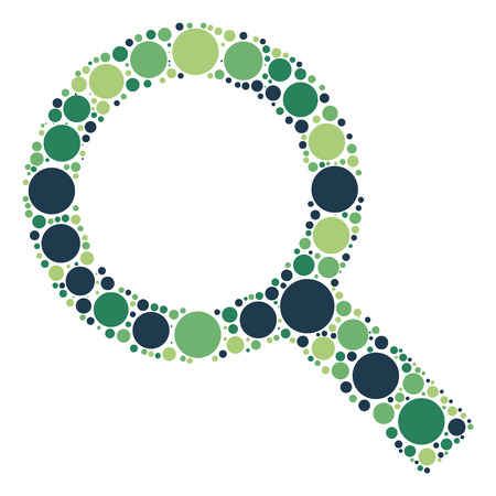 search shape design by color design Illustration