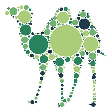 camel shape design by color point