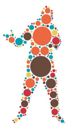 rapper shape design by color point