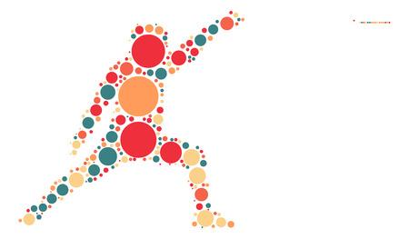 esgrima: diseño de la forma de esgrima por punto de color