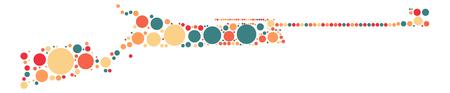 gun shape design by color point
