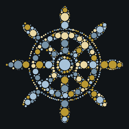 rudder shape design by color point 向量圖像