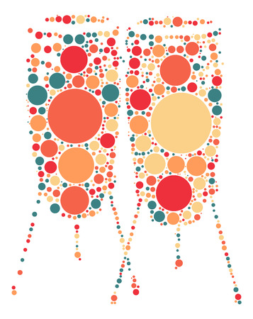 drum shape design by color point Illustration