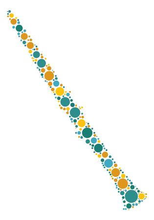 clarinete: diseño de la forma de clarinete por el punto de color