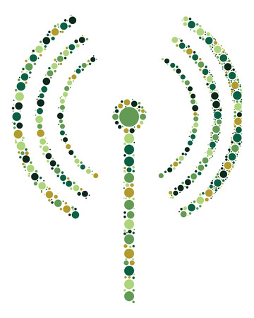 wireless signal: wireless signal shape design by color point