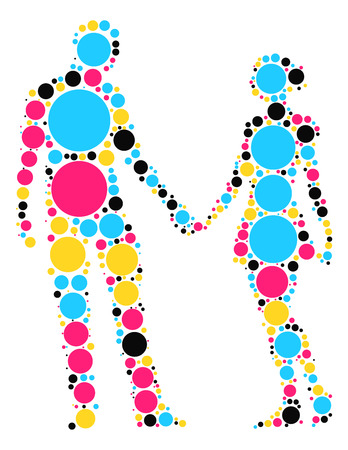 ballroom dancing: Ballroom Dancing shape design by color point