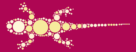 gecko shape design by color point