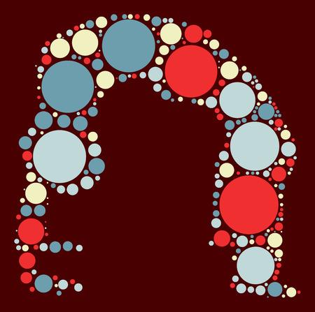 Yoga shape design by color point