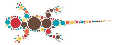diseño de la forma gecko por punto de color Vectores