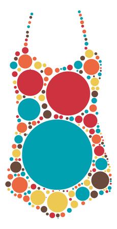 Sling shape design by color point